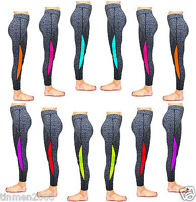Womens Ladies Gym Exercise Fitness Yoga Running Sports Leggings Pants Trousers
