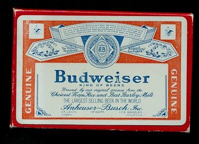 "Early Budweiser ""King of Beers"" Boxed Playing Cards Complete Deck"
