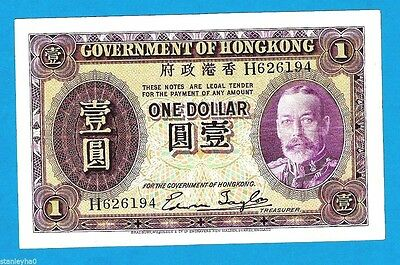 RARE Hong Kong $1 KGV  P311 Sign Taylor 1935 UNC none on Ebay in this condition