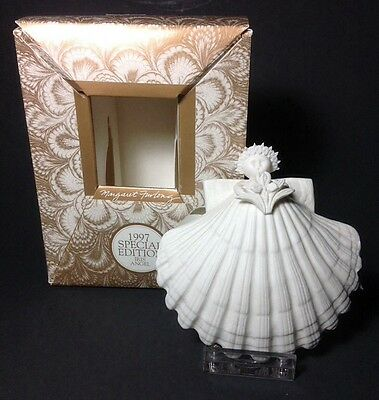 Margaret Furlong 1997 Iris Shell Angel Christmas Ornament Special Edition in Box