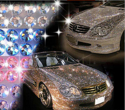 775X 3mm Silver Crystal Diamond Rhinestone Car/Mobile/PC Scrapbooking Sticker