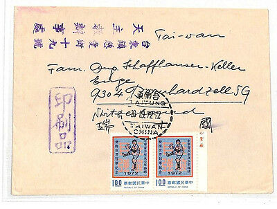 LL282 1972 Taiwan China Cover samwells-covers