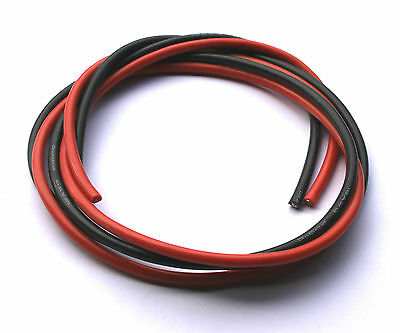 12 AWG Silicone wire/cable RC ESC Motor LiPo 0.5/1/2/5/10m - Red & Black 12awg