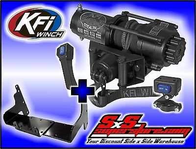 3500 lb KFI Stealth Winch Combo Polaris Sportsman 500 1996-2003 & 400 2001-2003
