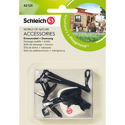 FREE SHIPPING | Schleich 42125 Dressage Saddle + Bridle Toy - New in Package