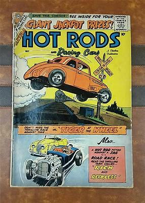 HOT RODS and RACING CARS COMIC No.40 SILVER CHARLTON MAY 1959 10c TRAIN TRACK