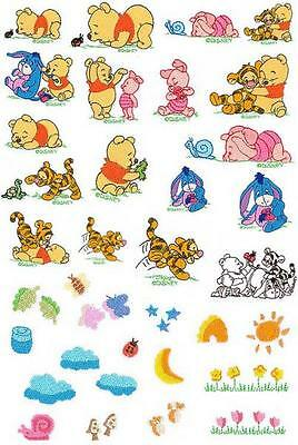Disney Baby Pooh Bear Brother Machine Embroidery Designs PES ,CD,USB