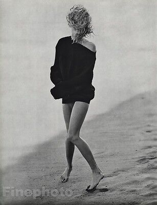 1987 Malibu 16x20 DARYL HANNAH Actress Movie Film Beach Photo Gravure HERB RITTS