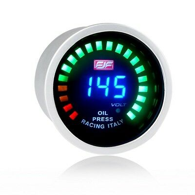 Universal 2inch 52mm Blue Digital Displayed Car Smoke Oil Pressure Gauges New