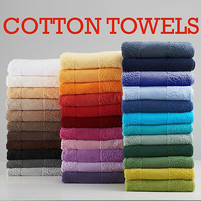 100% Cotton Towel Supersoft Combed Plain Face Hand Bath Towel Big Jumbo Sheet