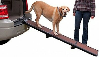 Pet Dogs Gear Tri-Folding Ramp Portable Sturdy Durable Home Travel Chocolate NEW