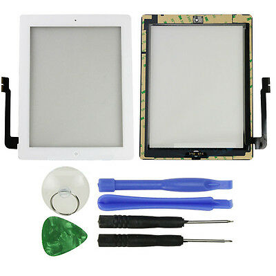 OEM White Front Glass Touch Screen Digitizer Home Button Assembly For iPad 3 3rd