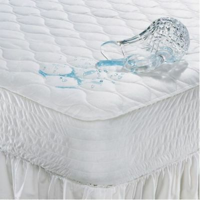 Waterproof Microfibre Quilted Mattress Protector Bed Cover Single Double King 4f