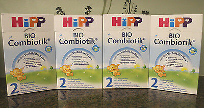 ***FREE EXPEDITED SHIP!*** 4 BOXES HiPP Stage 2 Organic Follow On Milk Combiotic