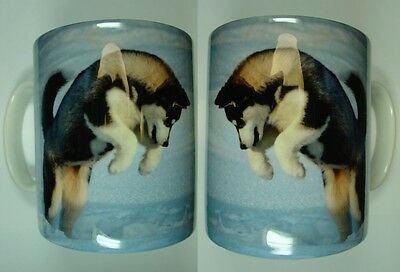 Siberian Husky Printed Picture Coffee Mug Design No 3