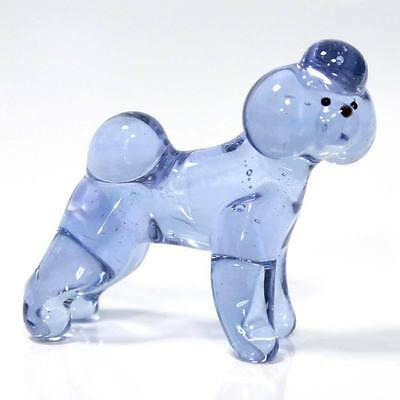 Middle blown glass figurine Dog - Bichon Frisé Russian Murano Handmade #40