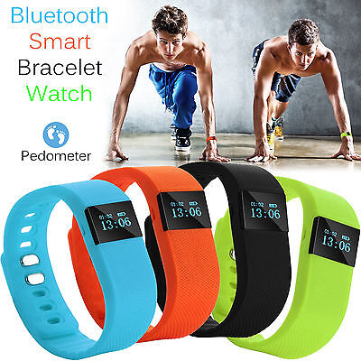 4.0 Bluetooth Smart Wristband Bracelet Pedometer Watch Fitness Tracker UK – New