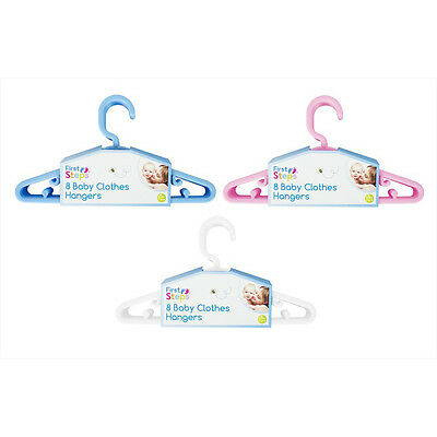 Plastic Children Hangers Kids Clothes Coat Trouser Baby Girl Boy Toddler 8 16 24
