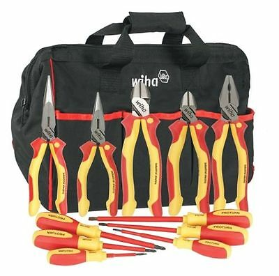 Wiha #32390 Insulated Drivers/Pliers 11 Piece Set in CanvasTool Bag & FREE TOOL!