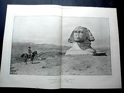 1887-ILLUSTRATED LONDON NEWS- Sphinx by Gerome,Giuseppe Verdi,Louis Wain Cat Art