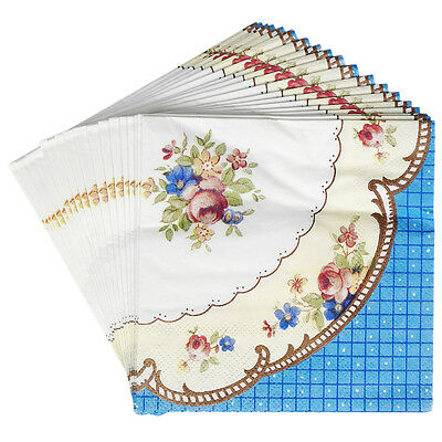 dotcomgiftshop PACK OF 20 REGENCY TEA PARTY DESIGN ELEGANT COCKTAIL NAPKINS