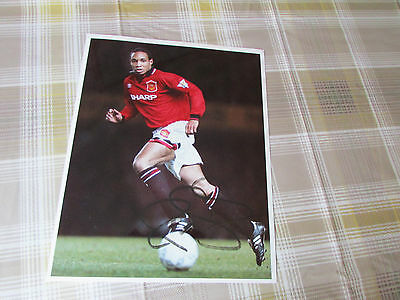 Paul INCE Manchester United 1995 ORIGINAL Hand Signed FOOTBALL Press Photo