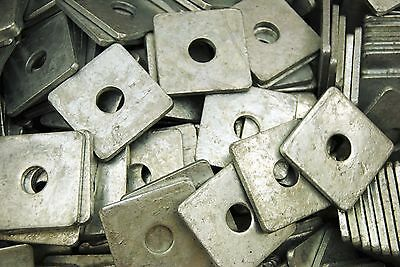(40) Galvanized 1/2 x 2 Square Plate Washers 3/16 Thick