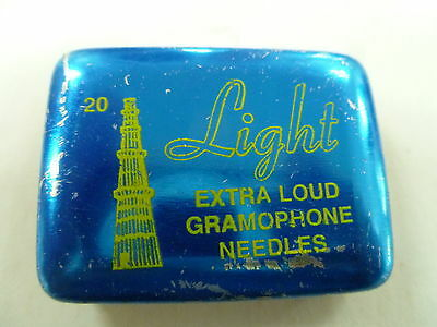 Vintage Light Extra Loud Gramophone Needle Tin