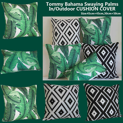 """Vintage Tommy Bahama Swaying Palms Outdoor CUSHION COVER Throw PILLOW CASE 18"""""""