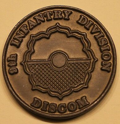 9th Infantry Division ID DISCOM Army Challenge Coin
