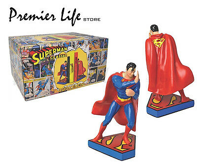 Superman Bookends - DC Comic Superman Action Figure Bookends