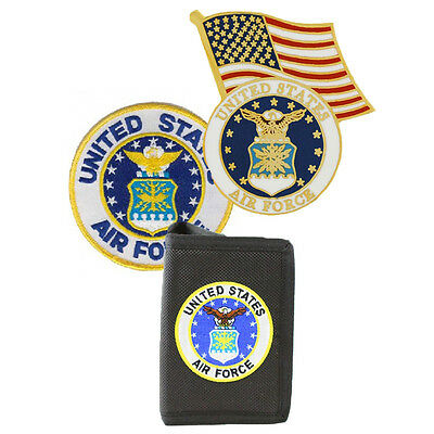 US Air Force Set - Wallet, Flag Pin and Small Patch