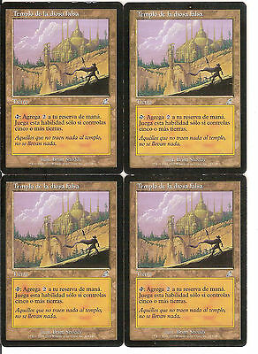 mtg Magic 4x Temple of the False God ( Templo de la diosa falsa ) PLAYED SPANISH