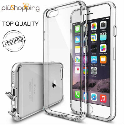 Cover Custodia Morbida TRASPARENTE TPU GEL Silicone Per iPhone 6 6S 7 o Plus