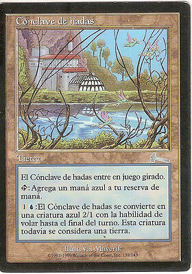 mtg Magic 1x Faerie Conclave ( Conclave de hadas ) SPANISH PLAYED++