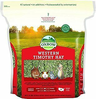 OXBOW Animal Health Western Timothy Hay for Rabbits Guinea Pigs Chinchillas 15z