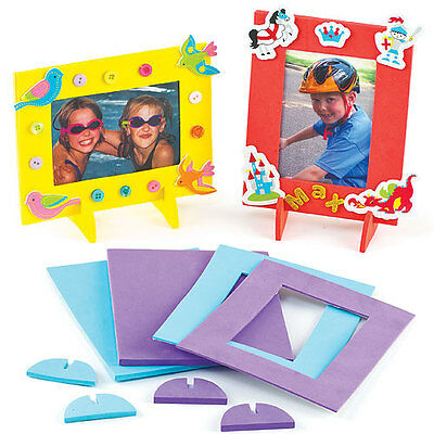Foam Photo Frames for Kids to Paint, Decorate & Personalise (Pack of 4)