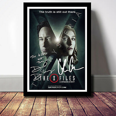 The X-Files Cast Signed Autograph Print Poster Photo Tv Show Series Season Dvd