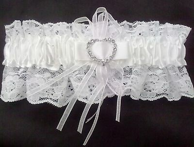 NEW Sexy White Lace Brides Wedding Garter Ladies Hen Nights Party, Dressing up.