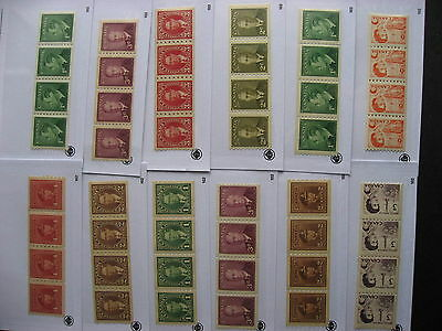 CANADA 12 different MNH coil strips of 4, well worth checking them out!