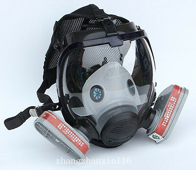 9 in1 Painting Spraying Similar 3M 6800 Gas Mask Full Face Facepiece Respirator
