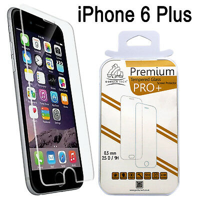 GENUINE GORILLA TEMPERED GLASS FILM SCREEN PROTECTOR FOR IPHONE 6+&6S+/Pack of 2