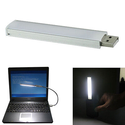 New 10CM Aluminum Shell Strip Super Bright USB LED Lights 5V 12LED Free shipping
