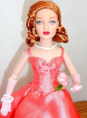 """Tonner Pink Champagne Supper Tiny Kitty Collier 10"""" Fashion Doll LE500 Box Stand"""
