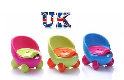 Kids Easy Clean Toddler Potty Training Chair Seat Removable Potty Lid Pink Girl