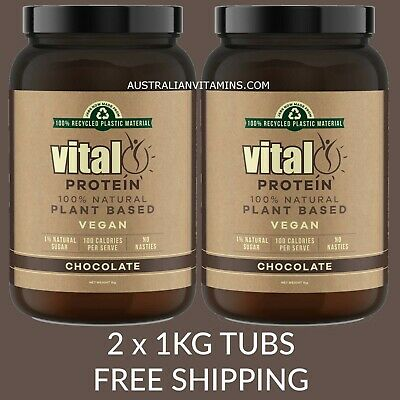 Vital Greens Vital Protein Chocolate 1kg :: 2 PACK SPECIAL :: $47.50 each