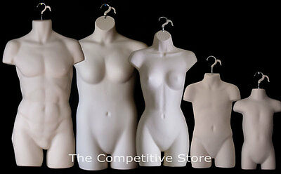 Fleshtone Female Dress Male Child Toddler & Plus Size Mannequin Display Forms