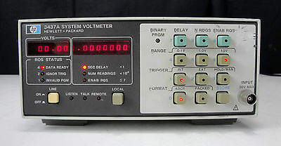As-Is / Parts - Agilent/HP 3437A System Voltmeter