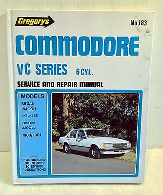 Holden Commodore VC 6 Cyl. Service & Repair Manual 1980-1981 Gregory's 183 (3267