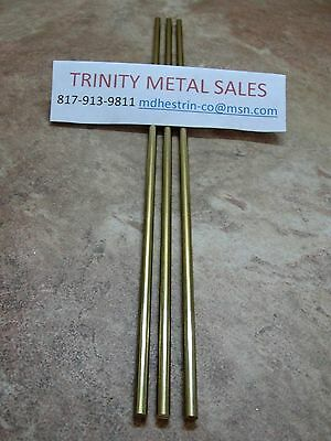 "3 Pc 3/16"" X 12"" Brass Round Rod C360 Best Seller, Great Value"